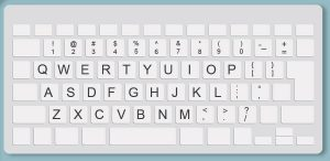 QWERTY Keyboard Layout to Learn to Touch Type