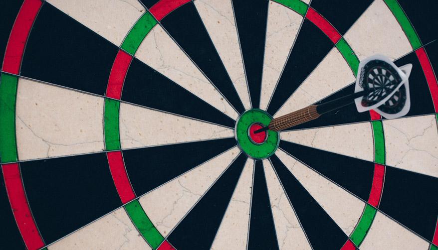 A dart in a bullseye