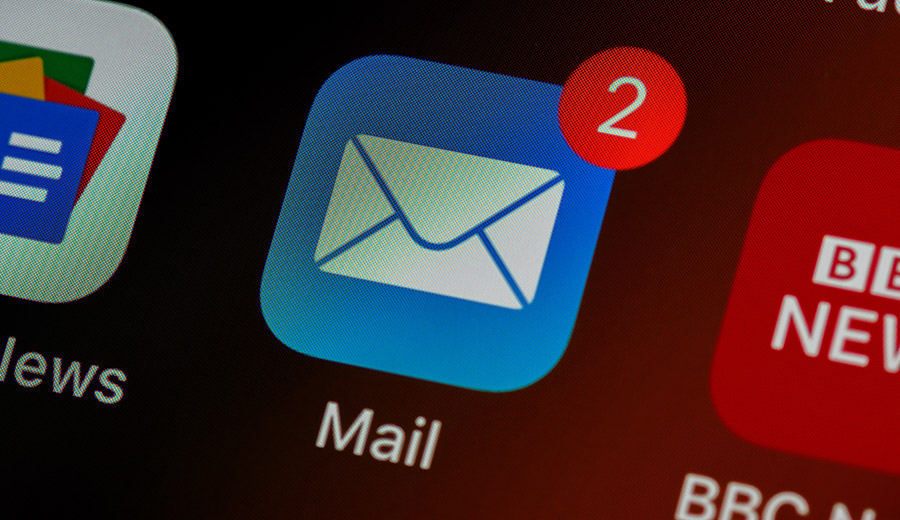 A screenshot of an email icon