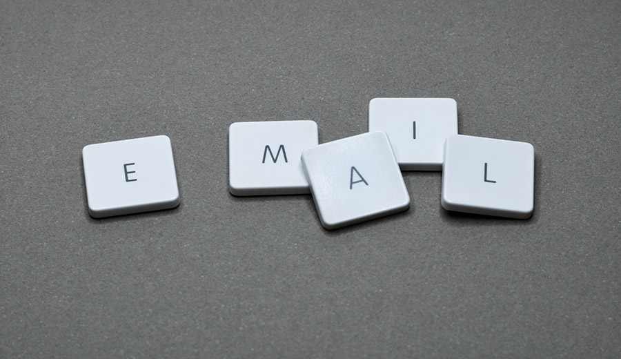 Tiles that spell out email