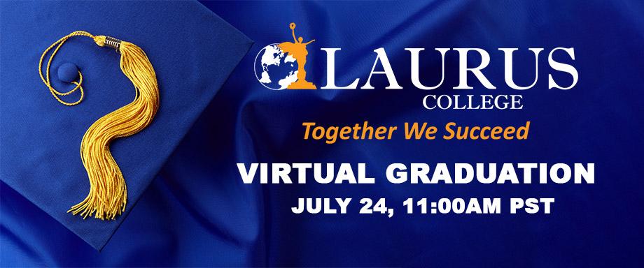 Laurus College July 2021 Graduation Banner