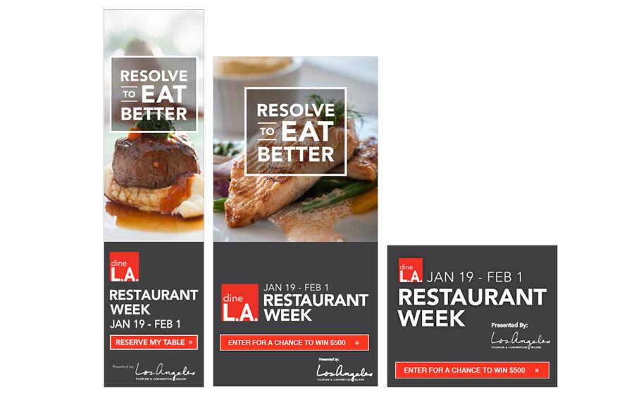 Dine LA campaign ads