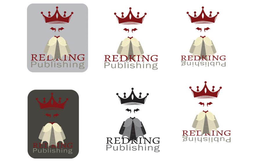 Logo designs for Red King Publishing by Brad Koyak