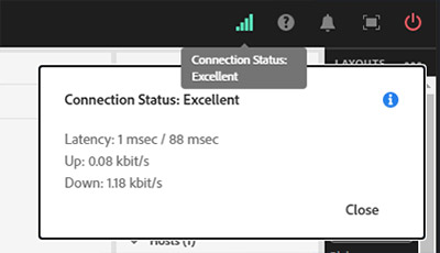 A screenshot of the connection status icon