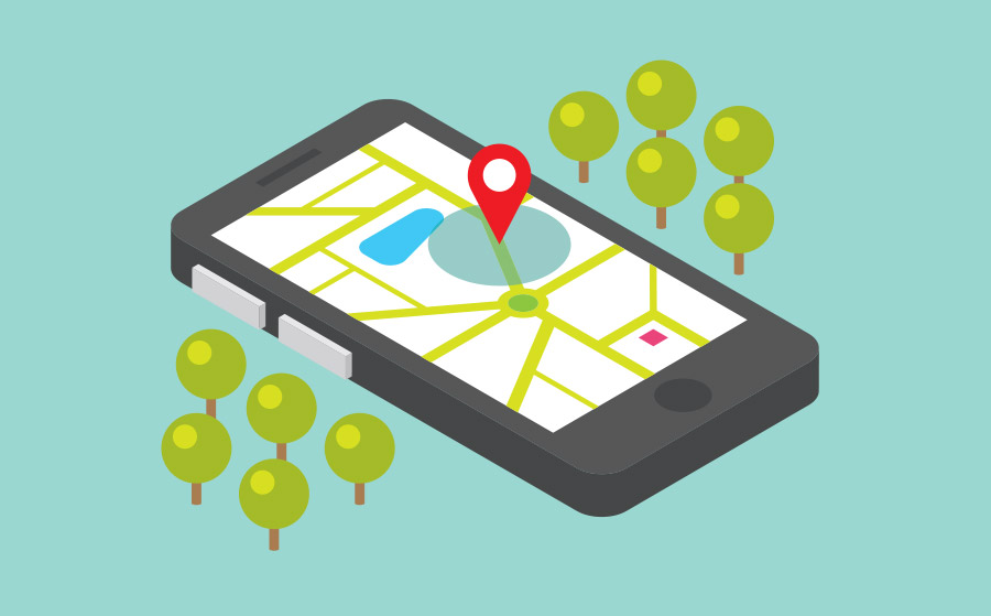 Isometric Cellphone with Location Indicator