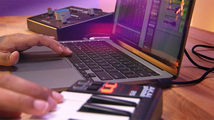 Hands using tech kit equipment