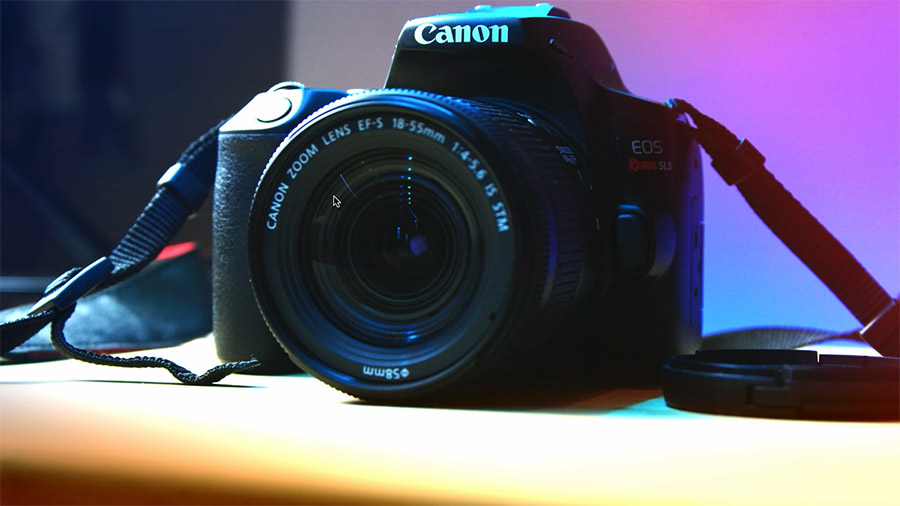Canon Rebel SL3 with 18-55mm Lens